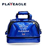 PLAYEAGLE New Arrival Double-layer Men's Golf Duffel Bag PU Smooth Golf Bag for Travel Women Waterproof Boston Bag with Shoe Pocket