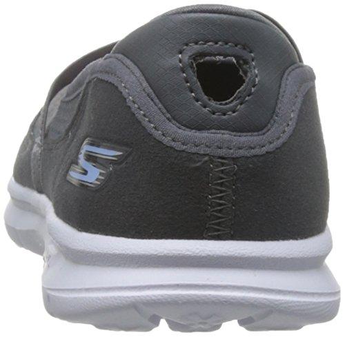 Skechers Charcoal Ladies Grigio Originale Passo Go Scarpa q7rqTCx