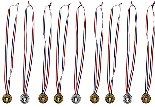 happy deals Torch Award Medals (6 Dozen) - Bulk - Gold, Silver, and Bronze Olympic Style Award Medals -
