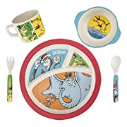Vandor 17004 Dr. Seuss 5 Piece Bamboo Dinnerware Set, Multicolored