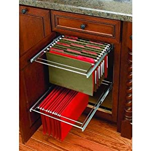 Rev A Shelf RAS FD KIT File Drawer Organizers RAS FD Office Cabinet  Organizers ;Chrome