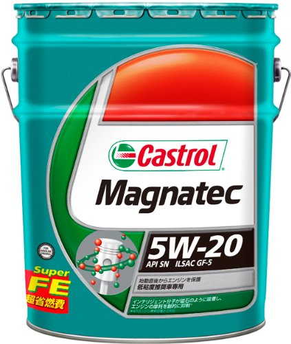 CASTROL(カストロール) エンジンオイル Magnatec 5W-20 SN/GF-5 部分合成油 4輪ガソリン車専用 20L B003U5Z7YG   20L