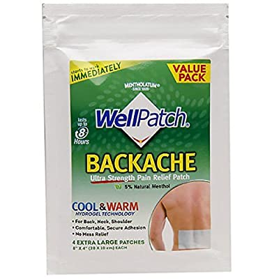 WellPatch Pain Backache Relieving Pads, Extra Large, 4-Count Boxes (Pack of 6)