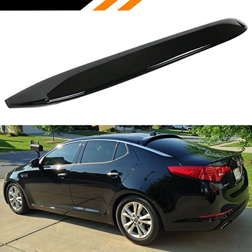 Cuztom Tuning Fits for 2011-2015 Kia Optima Gloss Black Rear Window Visor Roof Spoiler Wing Deflector
