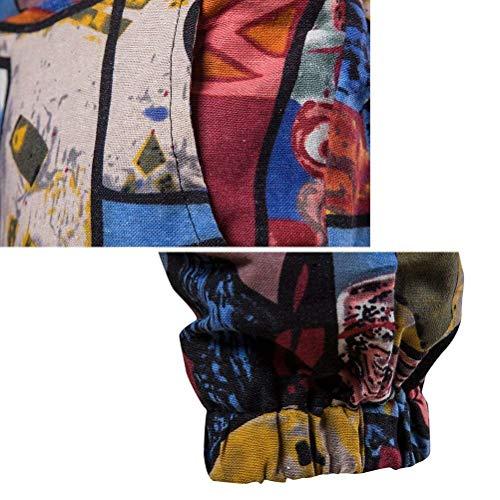 Hommes Les Desserrées Simple Respirant Lin Pants Style Retro Pantalons Jeunes Fancy Hulday Sport Plus Impression Rouge xI5qXX
