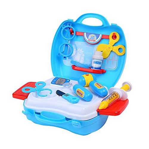Youtop Educational Doctor Medical Kit Pretend Play Set for Kids Blue (Costume Role Playset)