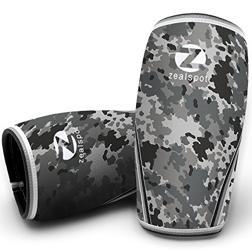 Zealspot Knee Sleeves-Compression and Support for Weightlifting, WOD, Squats, Gym, Powerlifting and Crossfit-7mm Neoprene Strong Knee Brace-Both Women and Men,Camo Grey(1 - Basketball Is Olympic A Sport Summer