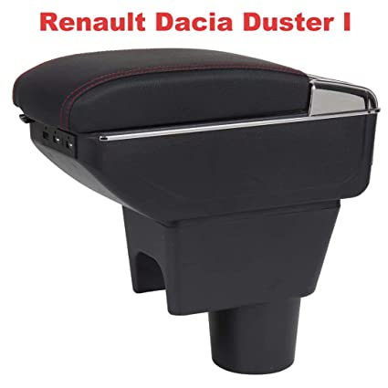 Apoyabrazos para Duster I 2010-2015 Reposabrazos Caja Consolas Almacenamiento con portavasos Cenicero