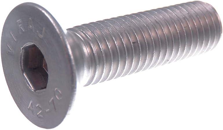 Seccaro Vis à tête fraisée m12 x 40 mm acier inoxydable v2a va a2 Din 7991//ISO 10642 Inn