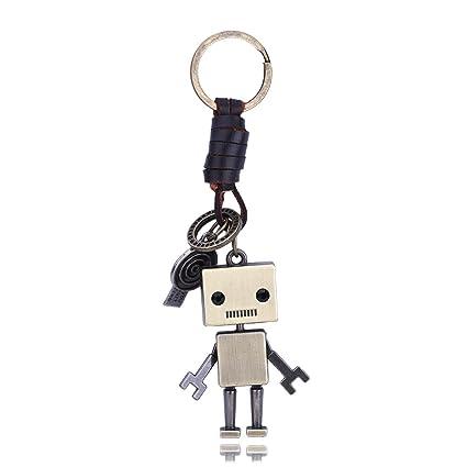 Llaveros de Cuero Llavero Vintage de Robot de Aleación ...