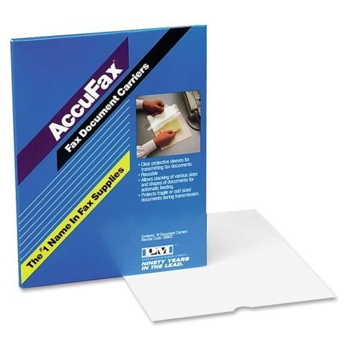 Wholesale CASE of 10 - PM Company Accufax Fax Document Carrier-Fax Document Carrier, Reusable, 8-1/2