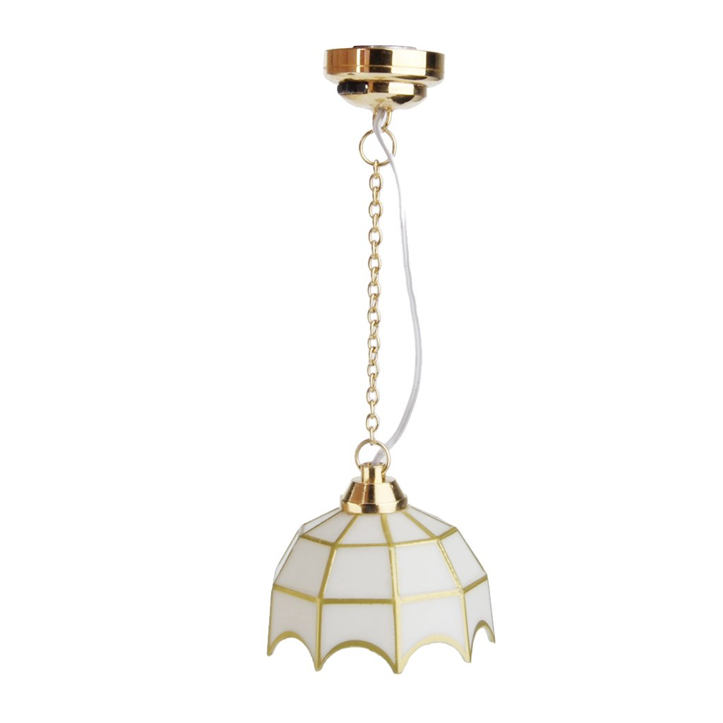 1:12 Dollhouse Lámpara de Techo Miniatura para Casa de Muñecas