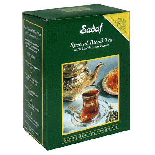 - Sadaf Special Blend Tea with Cardamom, 8-Ounce Boxes (Pack of 4)