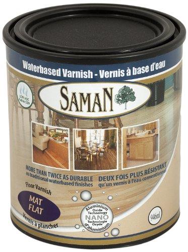 (SamaN 160-005-1L 1-Quart Interior Water Based Flat Varnish with Aluminum Oxide)