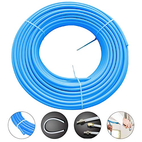 (Beduan 12 mm Tube OD SAEJ844 Pneumatic Air Brake Tubing Nylon Air Line Hose Tubing for Fluid Transfer and Air Brake System 16.4ft (Blue))