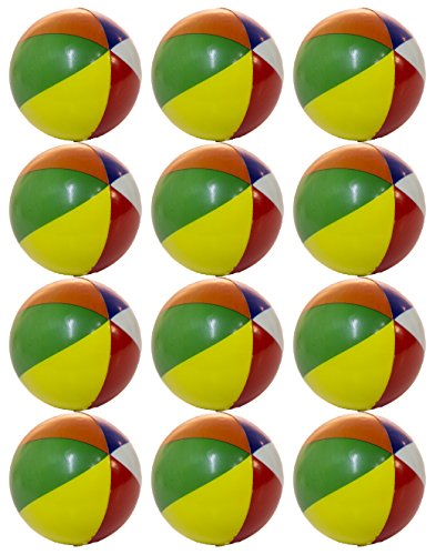 Set of 12 Mini Beach Ball 2 Inch Squeezable Stress (Monster Beach Balls)
