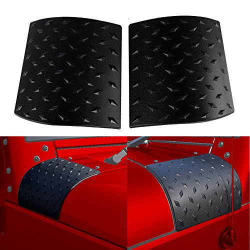 Santu Durable Black Side Cowl Body Armor Cover - Pair For Jeep Wrangler Rubicon Sahara Jk & Unlimited 2007-2016 (Latest Upgrade Version) (Work Cover Side Body)