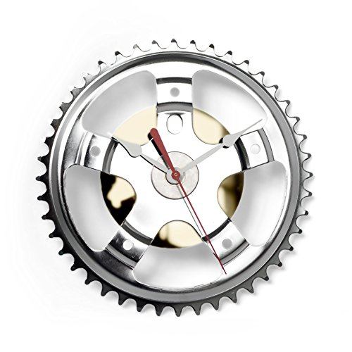Bicycle Hybrid Wall Clock by Resource Revival | Recycled Metal Rustic Modern Round Bike Gear Clock - Created for the Adventurer (Recycled Clock)