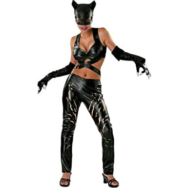 Amazon Com Dc Comics Deluxe Adult Catwoman Costume Clothing
