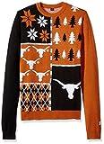 Klew NCAA Busy Block Sweater, X-Large, Texas Longhorns