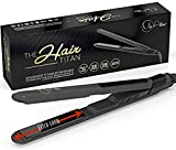 Best Flat Iron for Natural Hair Best Nano Titanium Hair Straightener - Salon Professional Flat Iron EXTRA LONG 4.5 Inch Floating Plates for Instant CELEBRITY Styling - Temperature Control, High Heat, Ultra Light Weight & Extra Slim
