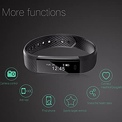 Fitness Tracker K-berho Smart Wristband and Workout Tracker Wearable Bluetooth Watch For IOS & Android Phone