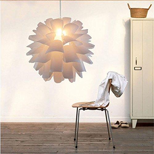 Pinecone Light Pendant 2 (Mengzhu-Michelle PP Pine Cone Chandelier Modern Minimalist Creative Pendant Light for Living Room Bedroom Study Restaurant Cafe Bar Hanging Light E 27)