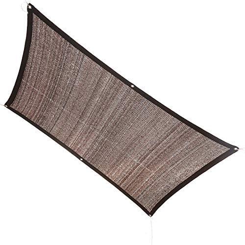KKCF オーニング シェード遮光ネット、通気性 アンチUV 防風 防水 バルコニー 庭園 シェーディング HDPE、茶色、カスタマイズ可能 サイズ (Color : Brown, Size : 1x1m)