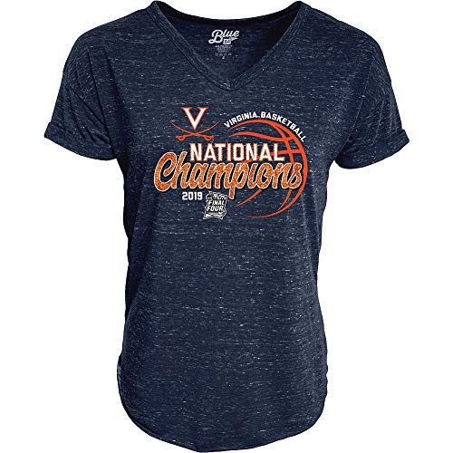 - Elite Fan Shop UVA Virginia Cavaliers National Basketball Champions Womens Tshirt 2019 Glitter - M - Navy