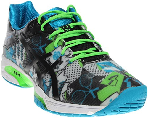 Asics Men's Gel Solution Speed 3 NYC Limited Edition Tennis Shoe (11 White/Black/Green Gecko)