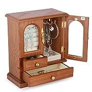 Kendal Real Natural Hardwood Wooden Jewelry Box Organizer WJC02AK