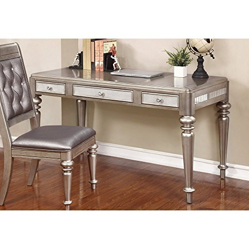 ings 804187 Writing Desk, Metallic Platinum (French Country One Drawer)