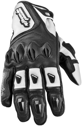 Speed & Strength Mens Trial By Fire Leather/Mesh Motorcycle Gloves White XXL 2XL