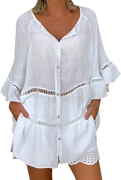 Vectry Blusa Mujer Vestir Blusas Mujer Tallas Grandes Camisetas De ...