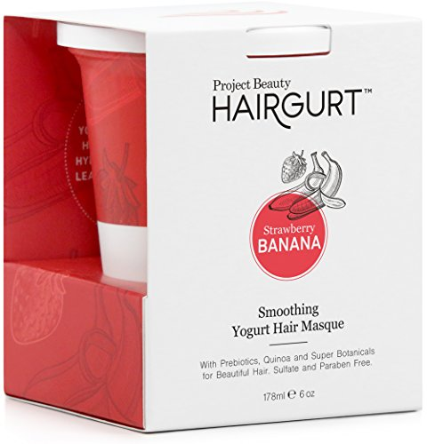 Masque Strawberry - HAIRGURT Smoothing Deep Conditioner Yogurt Hair Masque for Frizzy, Dry and Damaged Hair; Sulfate Free (6OZ)