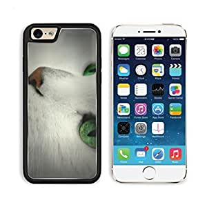 Cat White Green Eyes Face Animal Pet Apple iPhone 6 TPU Snap Cover Premium Aluminium Design Back Plate Case Customized Made to Order Support Ready Luxlady iPhone_6 Professional Case Touch Accessories Graphic Covers Designed Model Sleeve HD Template Wallpaper Photo Jacket Wifi Luxury Protector Wireless Cellphone Cell Phone by heywan