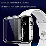 Julk Apple watch 3 case, iwatch screen protector tpu all-around protective case 0.3mm hd clear ultra-thin cover for 2017 new apple watch series 3 (42mm)