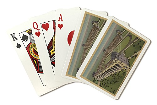 Austin, TX - The University of Texas Memorial Stadium from Air (Playing Card Deck - 52 Card Poker Size with -