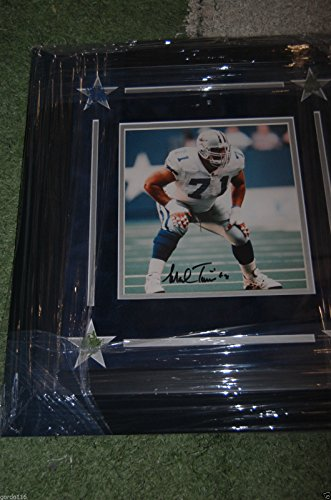 (Dallas Cowboys Texas Stadium Mark Tuinei #71 Auto Signed Framed 8x10 Turf)