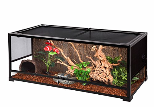 Oiibo Knock Down Glass Reptile Terrarium 47x18x18 Inch (Extra Large, Wide 47'' x 18'' x 18'') by Oiibo