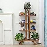 Balcony wooden living room flowerpot rack hundred step style flower racks-B