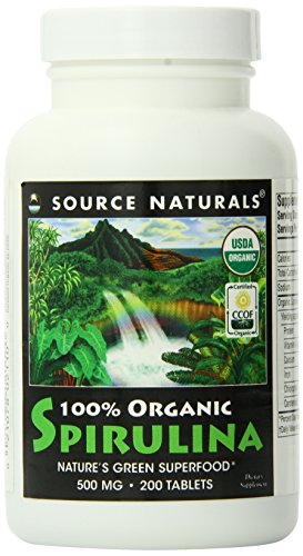 Source Naturals Organic Spirulina 500mg 200 Tablets