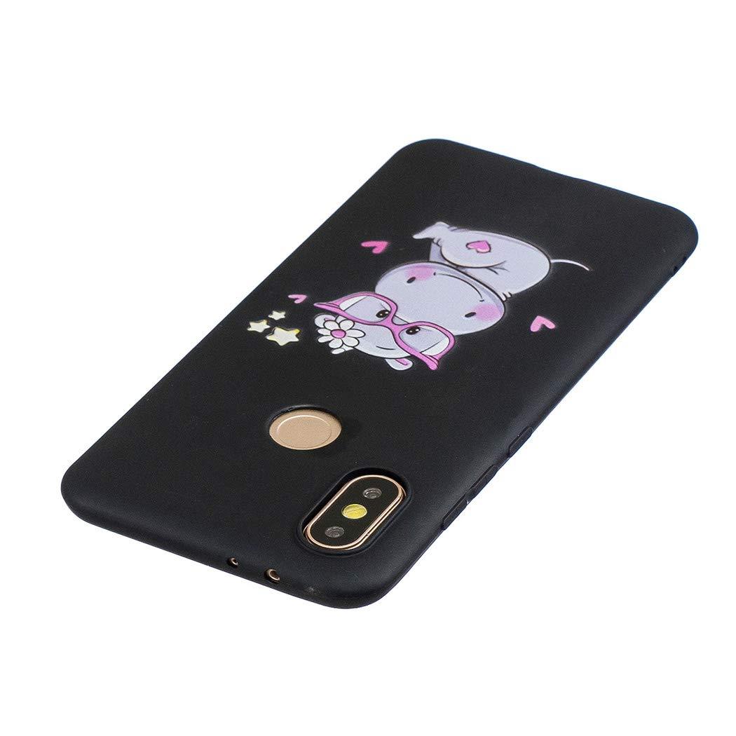 EuCase Funda Xiaomi Redmi Note 6 Pro Silicona Dibujos Carcasa Redmi Note 6 Pro Antigolpes Suave TPU Flexible Goma Ultra Delgada Cubierta Protector Bumper Case para Caja Tapa Carcasa Oso