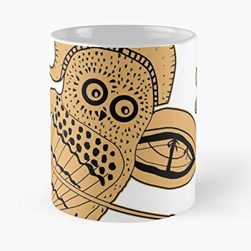Ancient Greece Vase Painting Hoplite Owl - 11 Oz Coffee Mugs Ceramic The Best Gift For Holidays, Item Use -