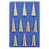 PME TS63 Seamless Stainless Steel Icing Tips/Tubes Box Set (10 Pieces), Standard, Silver
