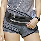 DIOMMELL Running Belt Waist Pack Fit All Phone Models Water Resistant Fanny Pack with Water Bottle Holder for Hiking Fitness Cycling Climbing Travel, Money Belt Pouch Bag for Men Women