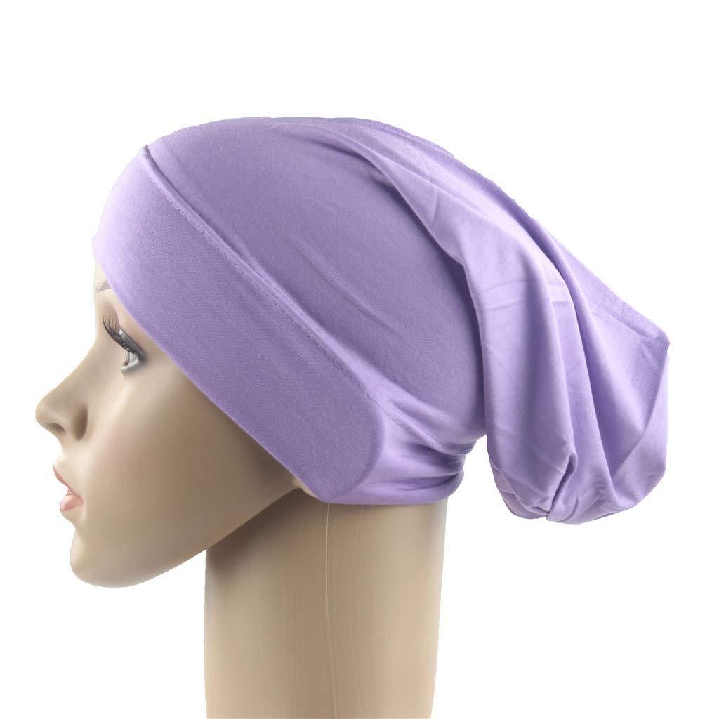 Tleegu Headwear Unisex Kappe Aus Baumwolle f/ür Krebs Haarverlust Schlafm/ütze