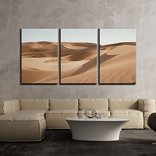 (wall26 - 3 Piece Canvas Wall Art - Landscape of Desert - Modern Home Decor Stretched and Framed Ready to Hang - 24