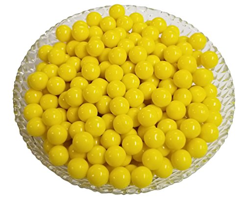 Mini Gumballs 0.5 Inch (Yellow, 2 Pound)
