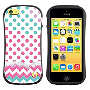 Pulsar iFace Series Tpu silicona Carcasa Funda Case para Apple iPhone 5C , Dot Chevron del trullo Rosa""